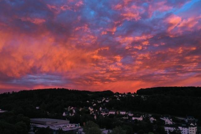 Unglaublicher Sonnenuntergang in Wiehl
